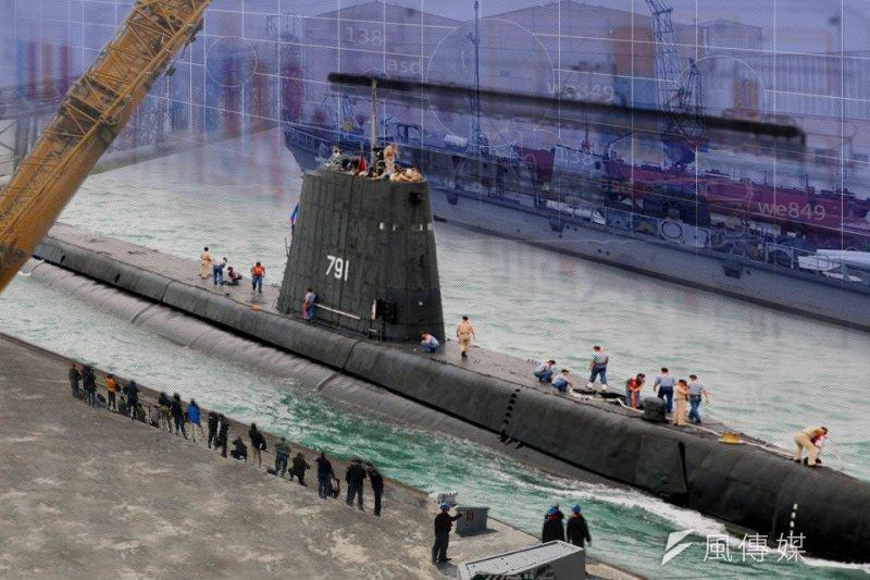 海軍執行潛艦案的「海星小組」將於7月1日再次恢復運作,代表潛艦國造前置作業正式啟動。圖為國軍現有的茄比級潛艦。(取自海軍全球資訊網,製圖/風傳媒)