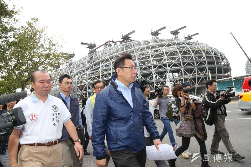 台北市長柯文哲日前正式宣布,2017年台北世界大學運動會將不會在4萬席的台北(大)巨蛋舉辦開閉幕式或任何賽事。(資料照片,吳逸驊攝)