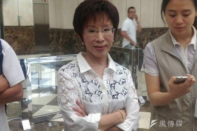 國民黨準總統參選人洪秀柱下午接受台視《台灣名人堂》專訪。