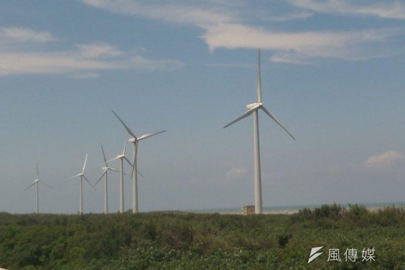 台灣北部的風力發電機組(風傳媒)