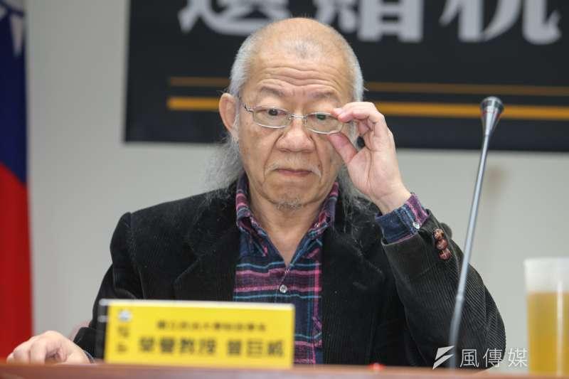 中國科大財稅系講座教授曾巨威表示,政府如果只是為了解決內外資不同稅問題,卻把所得稅累進課稅制度基本精神破壞掉,「我認為並不值得」。(資料照,陳明仁攝)