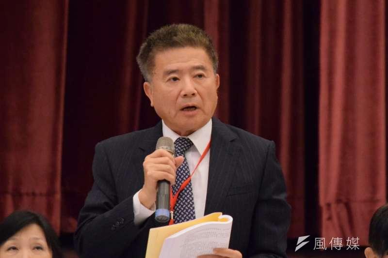 全國工業總會副理事長林明儒23日出席全國工業團體領袖會議。(陳伯聖攝)