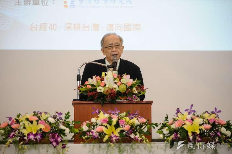 中經院董事長胡勝正傳10日傍晚已於台大醫院病逝,享壽78歲,中經院已證實胡勝正辭世消息。(資料照,甘岱民攝)