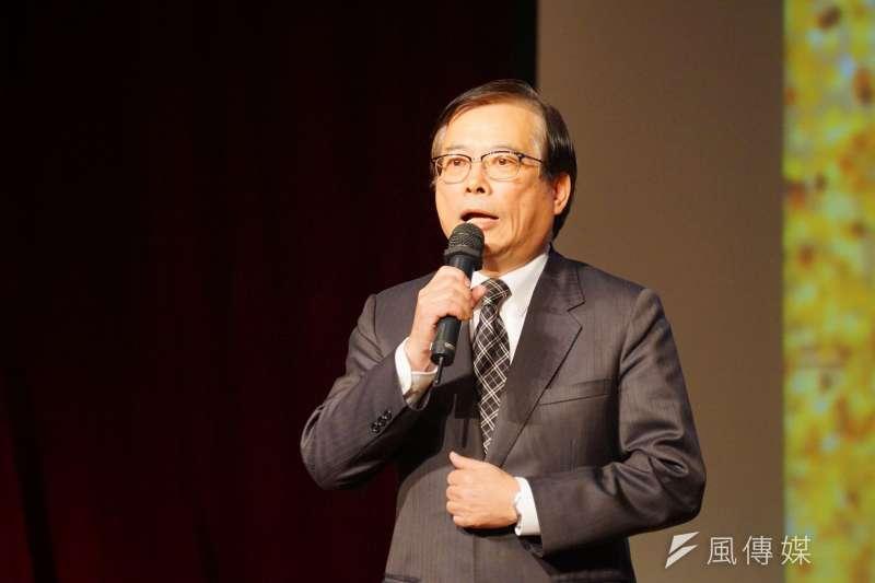 年金改革國是會議北區會議,勞動部長郭芳煜主持出席,被質疑不具備擔任主席資格。(盧逸峰攝)