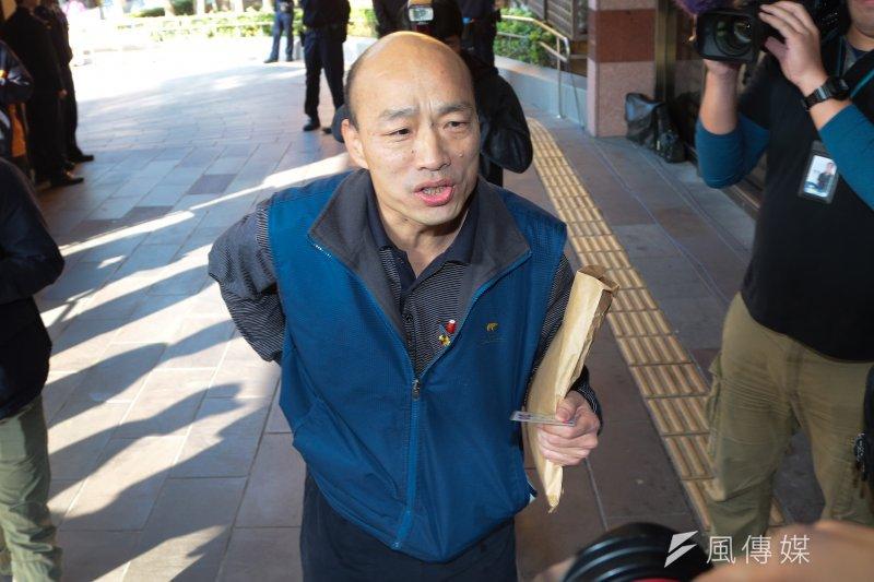 台北農產運銷公司總經理韓國瑜(圖)指洪耀福推薦林秋慧給台北市長柯文哲,洪耀福否認。(資料照,顏麟宇攝)