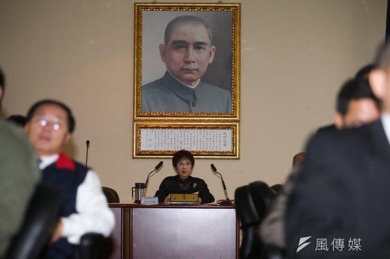 20170111-國民黨中常會,黨主席洪秀柱主持.(陳明仁攝)