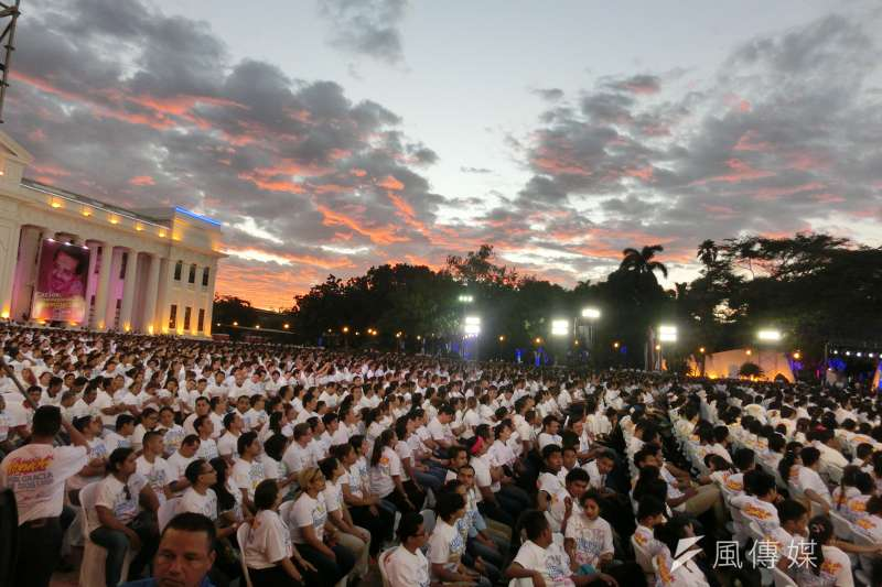 TW總統蔡英文出席尼加拉瓜總統奧迪嘉(右一)的就職典禮。(石秀娟攝).JPG