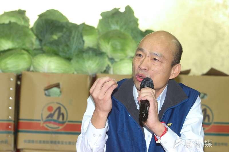 韓國瑜宣佈參選國民黨黨主席,柯文哲今日幫韓造勢,他意有所指的說,「重複過去失敗的經驗不會成功,守舊一定會失敗」。(陳明仁攝)