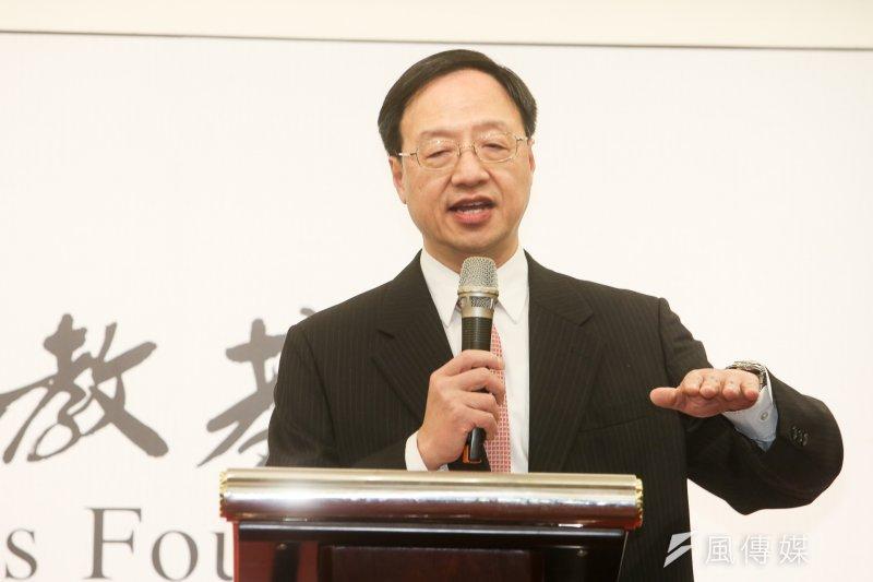 前行政院長江宜樺受林肯學會之邀發表演說。(資料照片,陳明仁攝)