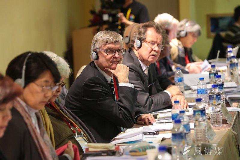 20170116-經社文公約審查委員、德國曼海姆大學比較公法教授Eibe Riedel 16日出席「兩公約第二次國家報告國際審查會議」。(顏麟宇攝)