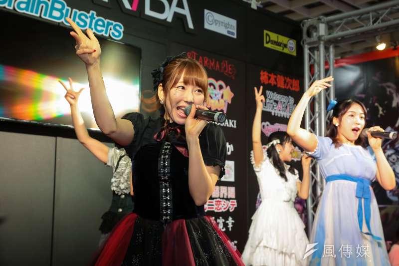 20170203-台北國際動漫節已於南港展覽館登場,現場邀請日本偶像人氣團體STARMARIE於現場演唱,現場動漫迷幾近瘋狂。(顏麟宇攝)