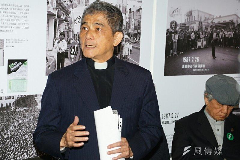 20170211-鄭南榕基金會特展開幕式,林宗正牧師致詞。(盧逸峰攝)