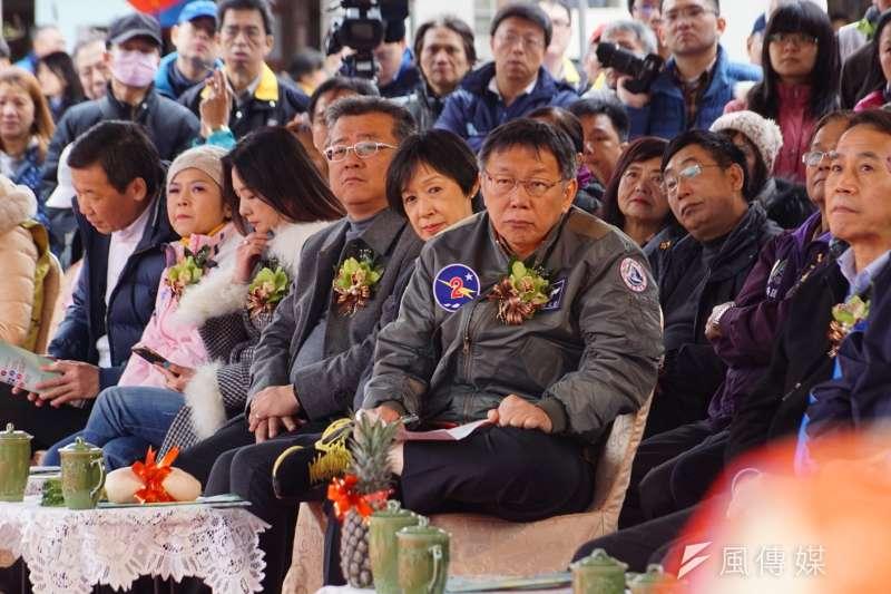 20170212-台北市長柯文哲出席捷運萬大線開工典禮。(盧逸峰攝)