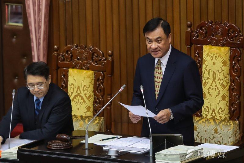20170221-立法院長蘇嘉全21日主持院會總質詢。(顏麟宇攝)