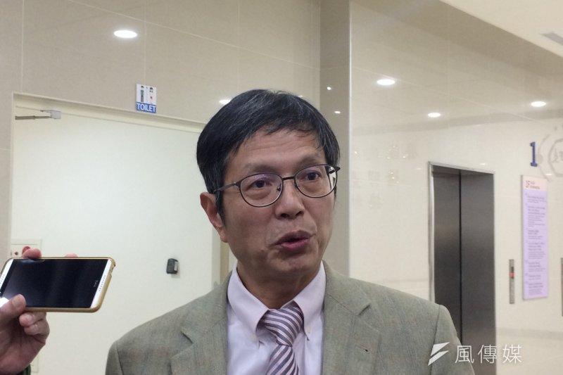 台大法律系教授林鈺雄指出,總統府蒐集到與死刑相關的議題,在歸納後就被消音了。(石秀娟攝)