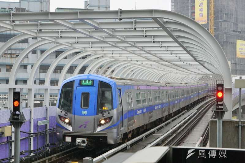 20170310-桃園機場捷運列車。(盧逸峰攝)