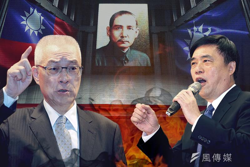 國民黨副主席郝龍斌(右)參選到底的決心,關閉任何結盟大門,前副總統吳敦義(左)與郝龍斌的「吳郝結盟」成空談。(資料照,陳明仁、葉信菉攝,影像合成:風傳媒)