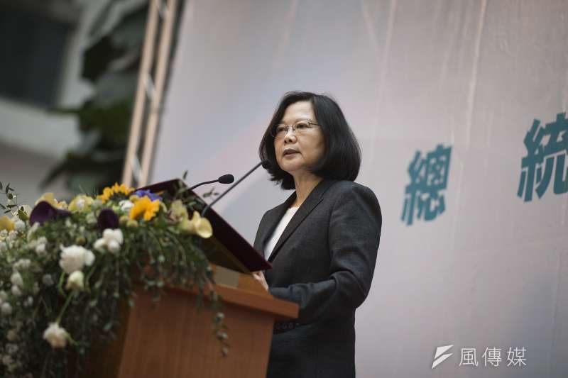 根據台灣民意基金會民調,總統蔡英文聲望再度下跌。(總統府)