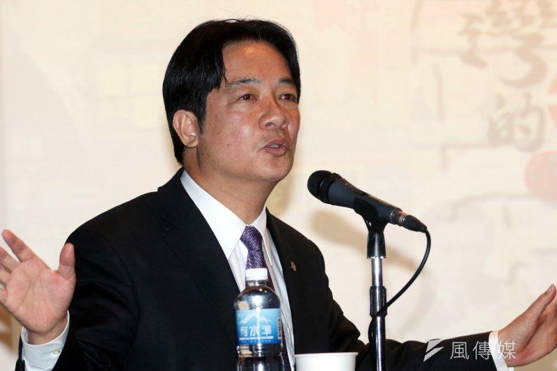 媒體報導,台南市長賴清德在美表示,接受九二共識和廢除民進黨黨綱不是問題。對此總統府回應是媒體斷章取義。(資料照,蘇仲泓攝)