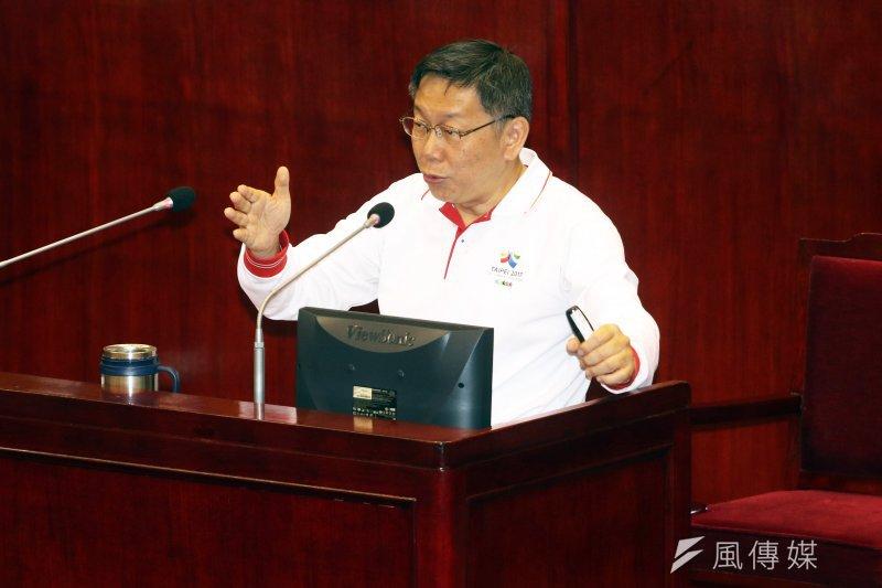 臺北市長柯文哲選擇不到立法院參加前瞻基礎建設公聽會,擔心淪為口水戰。(資料照片,蘇仲泓攝)