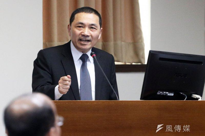 根據台灣指標民調,新北市副市長侯友宜獲得53.9%的支持率。(資料照,蘇仲泓攝)