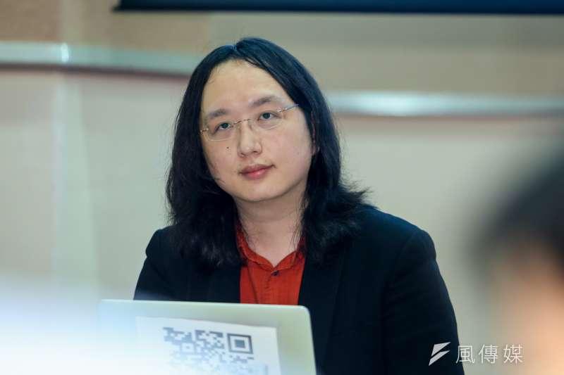 20170505行政院數位政委唐鳳記者會.(陳明仁攝)