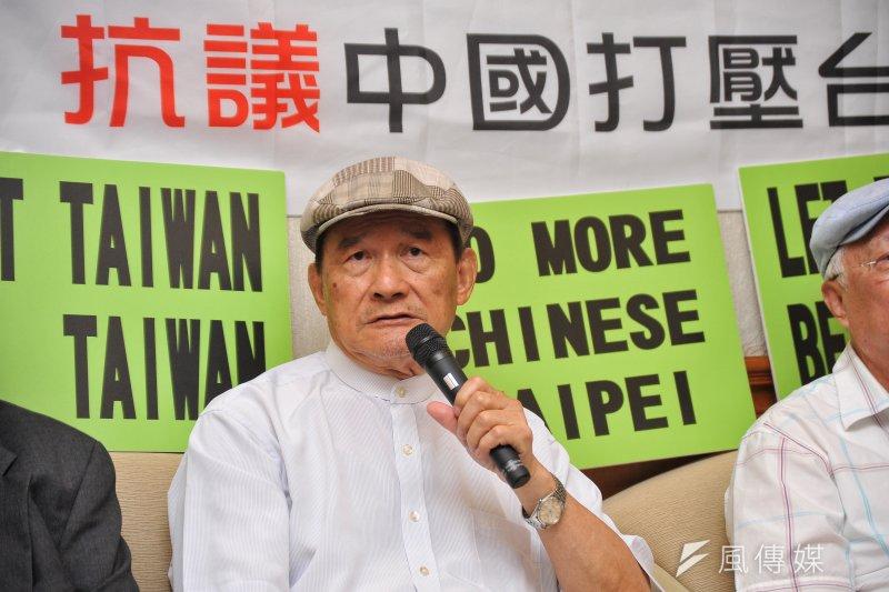 台灣聯合國協進會理事長蔡明憲接受媒體專訪表示,李明哲被當中國公民審判是荒謬的事。他野呼籲中國政府應該無條件釋放李明哲。(資料照,甘岱民攝)