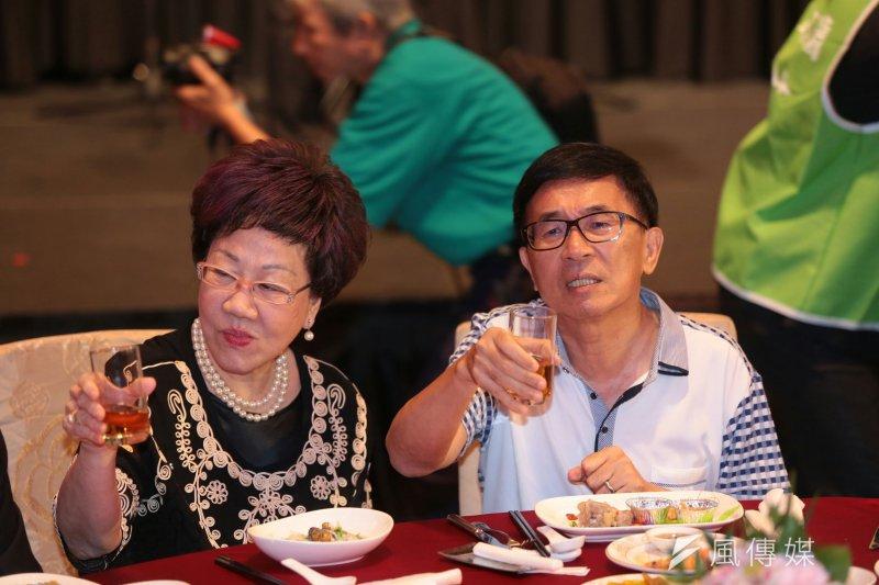 陳水扁說,軍公教是全民的共同資產,不是敵人!如果他的8年有任何的成績,全體軍公教人員絕對是功勞者之一。(顏麟宇攝)