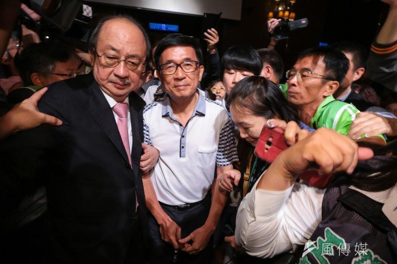 作者認為赦免陳水扁,不是為了陳水扁,而是為了台灣社會和解。圖為前總統陳水扁19日出席凱達格蘭基金會募款餐會。(資料照,顏麟宇攝)