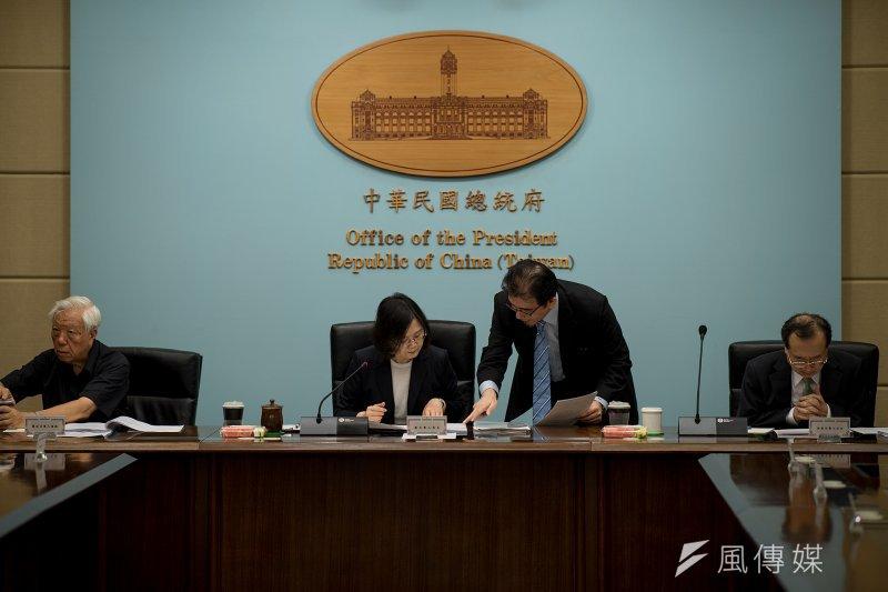 蔡英文總統主持司法改革國是會議籌備委員會第6次會議。(取自總統府)