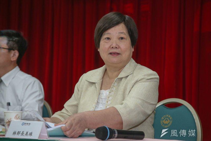 勞動部長林美珠今(14)日上午與七大工商團體及資方代表會面溝通,傳勞動部腹案將調漲基本工資5%。(資料照,陳明仁攝)