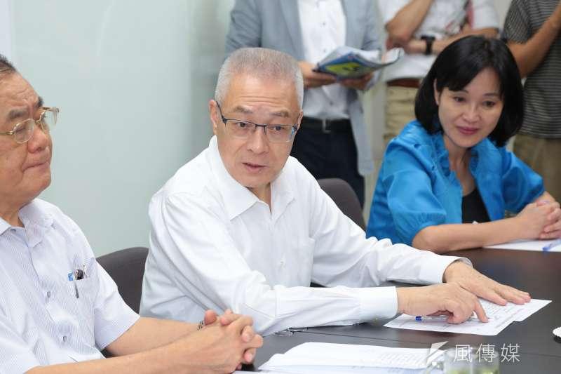 國民黨中央委員選舉出現爆炸狀況,圖為國民黨黨主席吳敦義。(資料照片,顏麟宇攝)