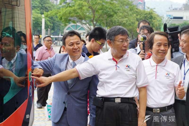20170727-台北市無人車實驗計畫記者會,市長柯文哲出席參加。(盧逸峰攝)