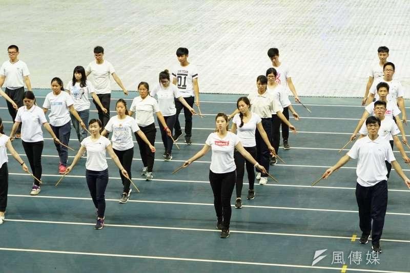 20170805-世大運開幕測試,祈福法會表演舞蹈。(盧逸峰攝)