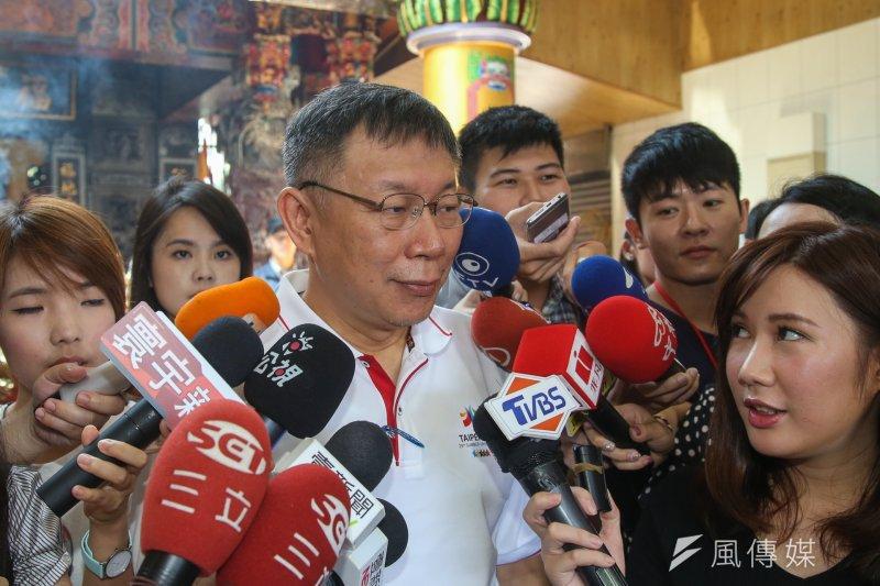 台北市長柯文哲再批前瞻。(資料照片,陳明仁攝)