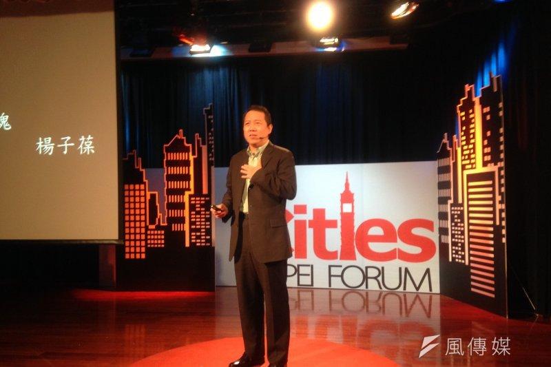 文化部次長楊子葆表示,如果台北以前的東西總是抹滅掉,想弄個新的東西,那他以後怎麼跟小孩分享以前的回憶。(蔡孟筑攝)