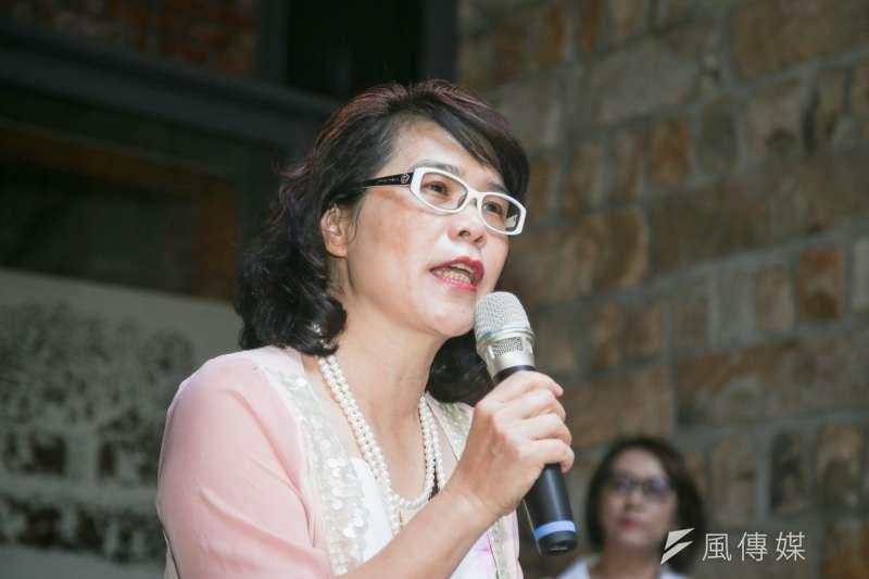 晚晴婦女協會理事長岳珍出席「人權接棒 心跳不止 行動不滅」814國際「慰安婦」紀念日活動。(陳明仁攝)