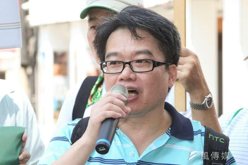 台聯副秘書長王銘源出席呼應日本人發起的發起的台灣正名活動,台聯「2020東京奧運台灣正名,街頭連署暨記者會」在台北舉行。(陳明仁攝)
