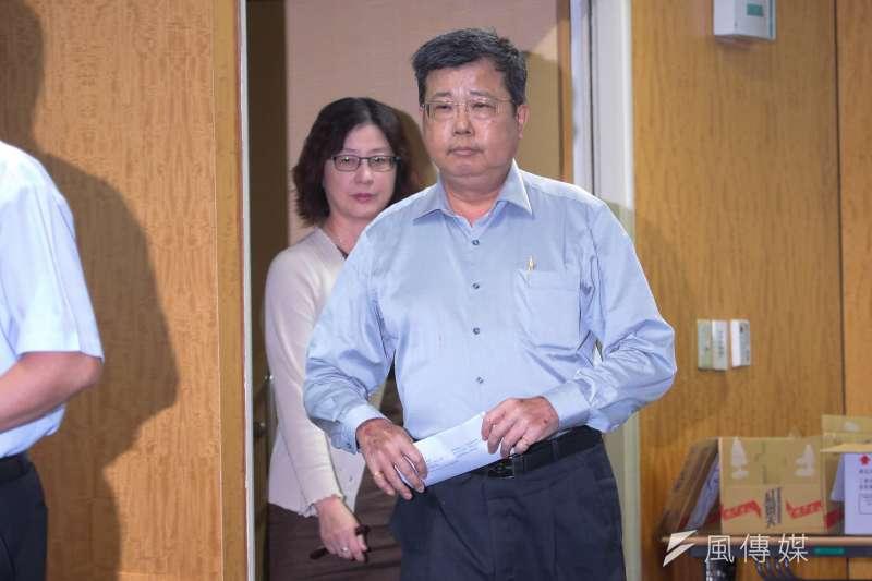 經濟部國營會今(12)日公布815大停電懲處,中油總經理劉晟熙因行政管理疏失,記過2次處分。(顏麟宇攝)