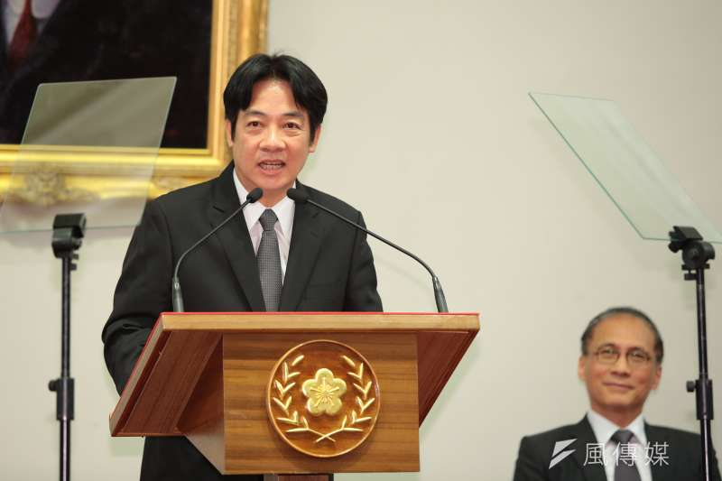 20170905-台南市長賴清德5日出席總統府新任行政院長公佈記者會,並確定接任。(顏麟宇攝)