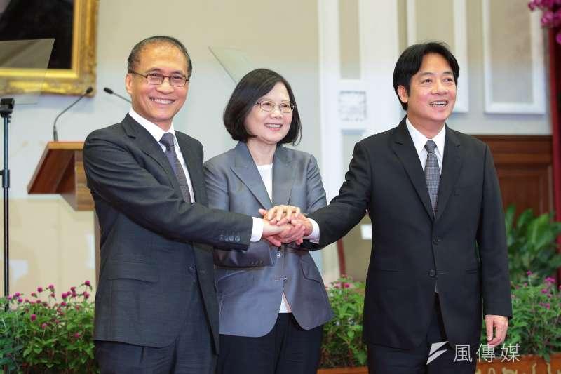 總統蔡英文9月5日親自召開新任行政院長公佈記者會,由台南市長賴清德接任新閣揆。(資料照,顏麟宇攝)