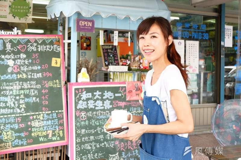 小孟自30歲赴澳洲打工度假後回台灣創業,堅持不用現成冷凍食材、免洗餐具,只希望讓客人好好吃頓飯(謝孟穎攝)