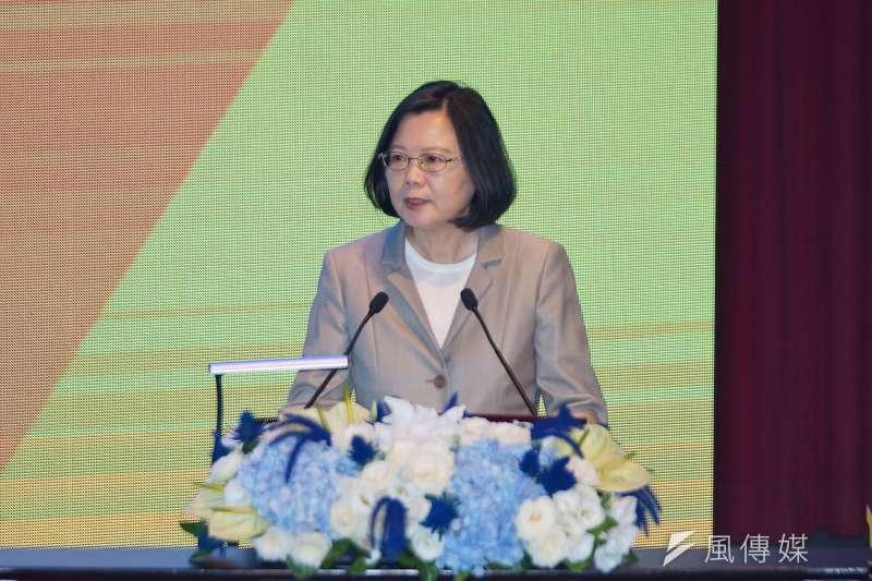 總統蔡英文出席世界資訊科技大會WCIT開幕典禮。(盧逸峰攝)