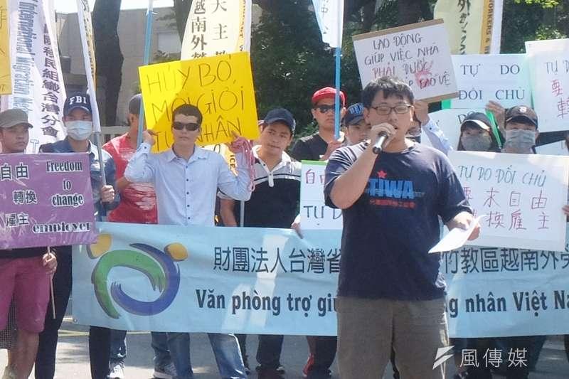 針對移工遭警開9槍身亡一案,TIWA台灣國際勞工協會許惟棟直批,警方從頭到尾都沒有提供「完整的」追捕記錄影像,只提供片段畫面給媒體。(謝孟穎攝)