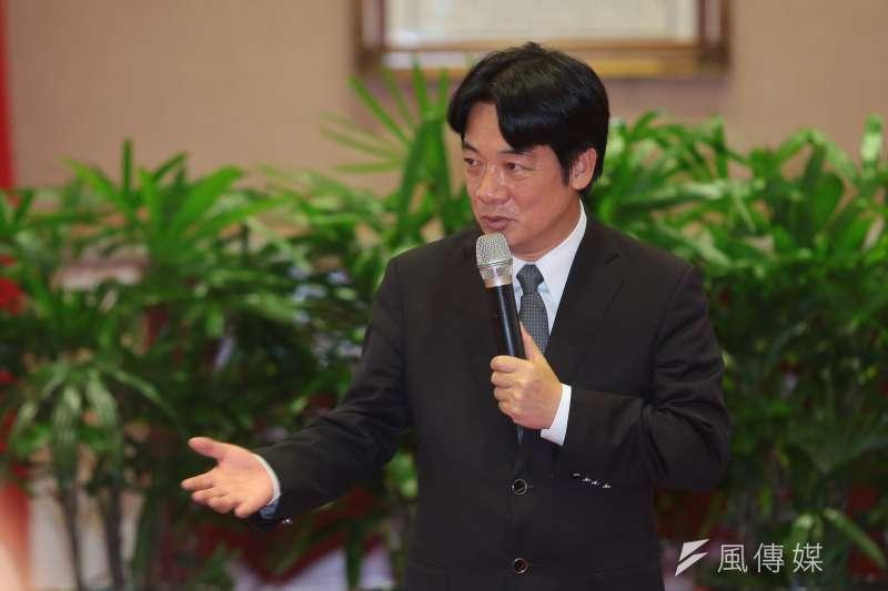 賴清德就任閣揆第一箭,宣布公務員明年調薪3%。(顏麟宇攝)