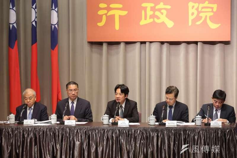 20170914-行政院長賴清德14日出席行政院會會後記者會。(顏麟宇攝)
