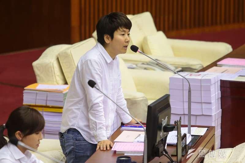 20170920-民進黨市議員許家蓓20日於台北市議會質詢。(顏麟宇攝)