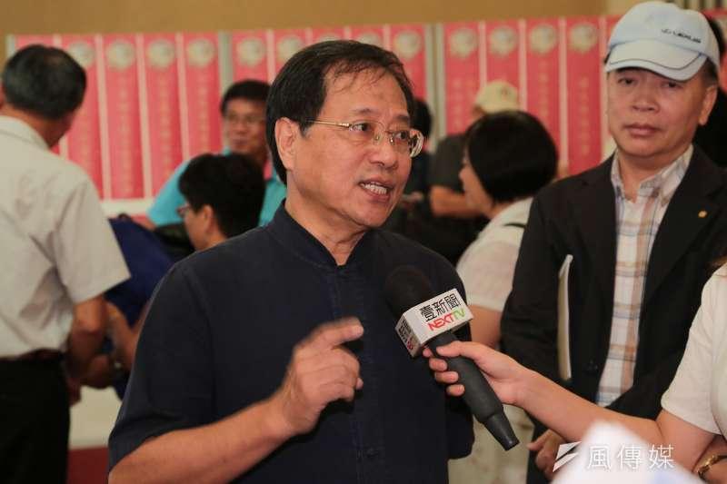 20171009-李來希9日出席孫文學校舉辦「和平奮鬥救台灣」國慶茶會。(顏麟宇攝)