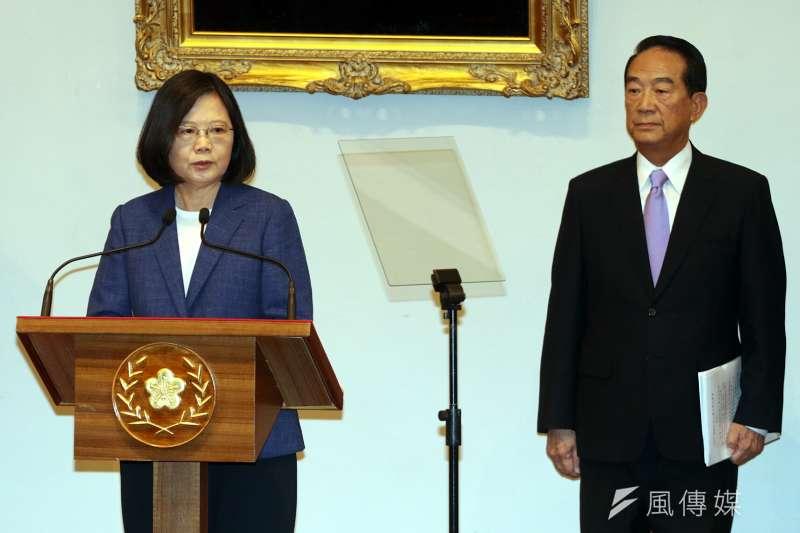 總統蔡英文12日表示,願意在APEC的架構下,與中國進行善意的互動與合作,為APEC做出貢獻。(蘇仲泓攝)