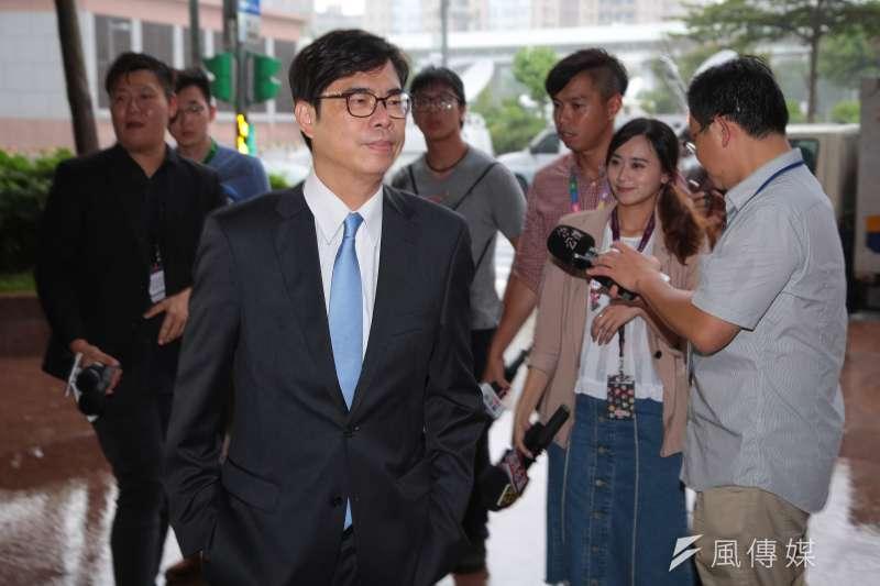 民進黨立委陳其邁回應劉世芳退出初選問題。(資料照片,顏麟宇攝)
